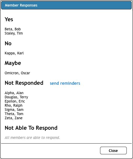 member-responses